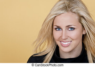 Blue Eyed Girl - Studio shot of a beautiful young blond...