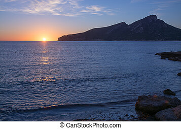Sant Elm Sunset in early November. Sant Elm, Mallorca,...