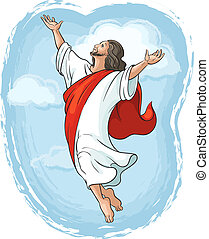 Ascension of Jesus Christ - Ascension of Jesus raising hands...