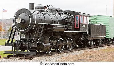 steam locomotive in Railroad Museum, Gorham, New Hampshire, USA