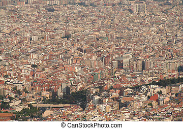 barcelona city overview roofs - Panoramic overview of...