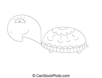 Doodle Sketchy turtle Vector Illustration