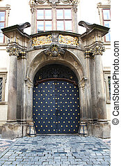 Gate Ministry of Culture Prague - the main gate of the...