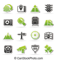 Map, navigation and Location Icons -vector icon set