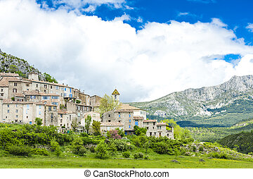 Trigance, Var Department, Provence, France