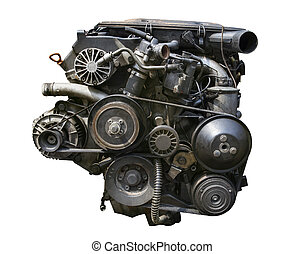 old desiel engine isolated white