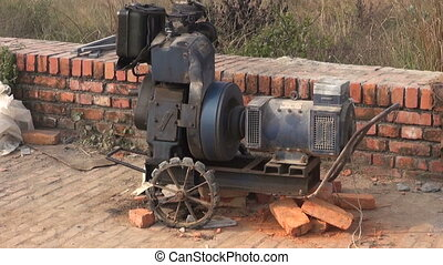 old portable electricity generator - working old portable...