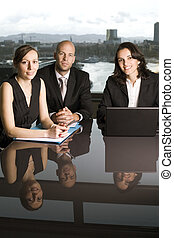 Businessteam - Business team of three people