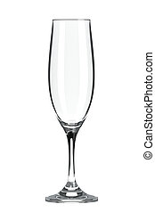Champagne Flute Glass - Empty Single Transparent Champagne...