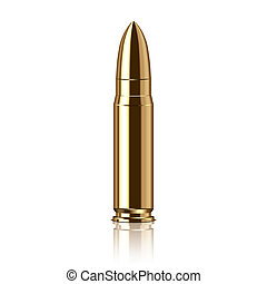 Rifle bullet vector illustration - Rifle bullet isolated on...