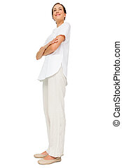 Full length of a female nurse with arms crossed - Full...