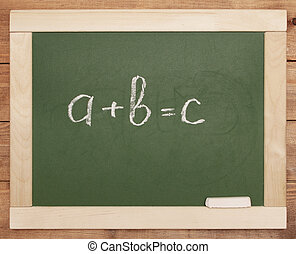 equation on blackboard