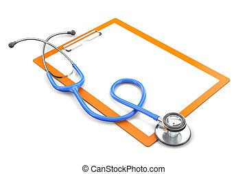 médico, conceito,  3D
