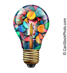 Art Ideas - Art ideas and creative expression concept as a...