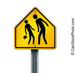 Bullying Concept - Bullying concept as a yellow traffic sign...