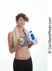 healthy fit middle aged woman
