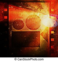 grunge film strip and movie project - Old grunge film strip...