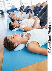 休息, 行, 瑜伽, 蓆子, 類別