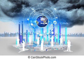 Global business concept - Digital composite of global...