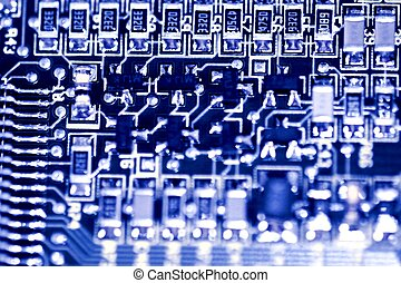 Circuit Board - Close up of a computer electronic circuit...