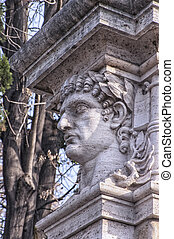Emperor Head Statue - A statue relief of emperor Nero's head...
