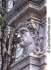 Emperor Head Statue - A statue relief of emperor Nero's head...