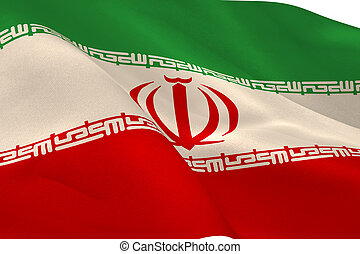 Iranian flag waving