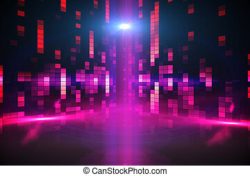 Digitally generated disco background in purple