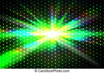Digitally generated disco background in green