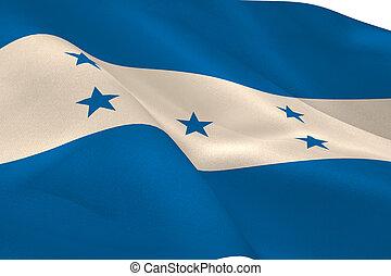 Honduran flag waving