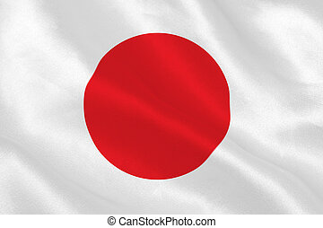 Japanese flag rippling