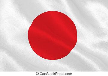 Japanese flag rippling