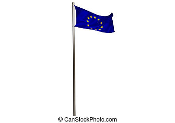 European union flag on flagpole