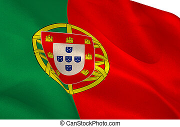 Portugese flag waving