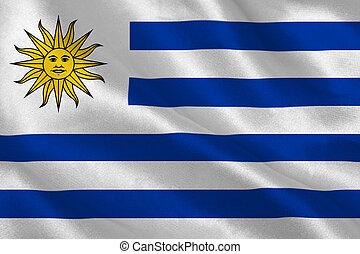 Uruguay flag rippling