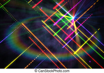 Digitally generated disco laser background in cool colours