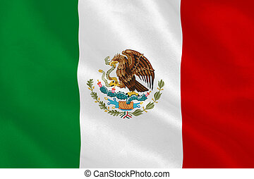 Mexican flag rippling