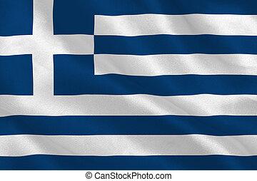 Greek flag rippling