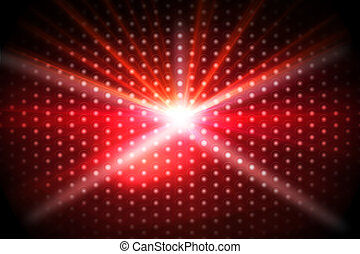 Digitally generated disco background in red