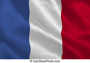French flag rippling