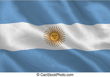 Argentinian flag rippling