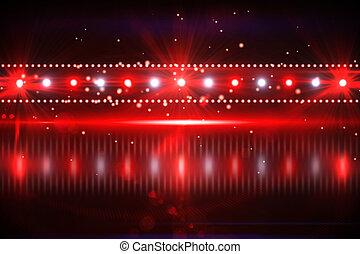 Digital nightlife design in red