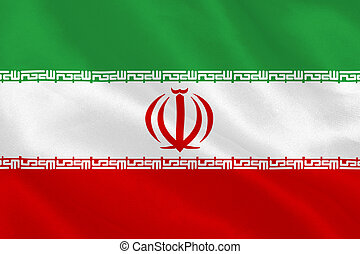 Iran flag rippling