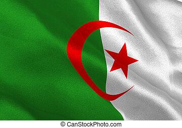 Algerian flag rippling