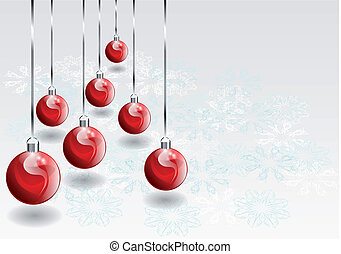 cristmas baubles and snowflake 10 EPS