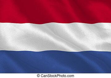 Netherlands flag rippling