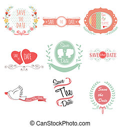 Save the date for wedding - A vector illustration of save...