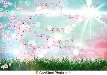 Digitally generated flower background - Digitally generated...