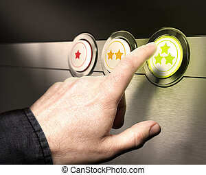 Customer Service Satisfaction - Support - Three buttons from...