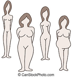 Female Body Types - An image of a female body types.